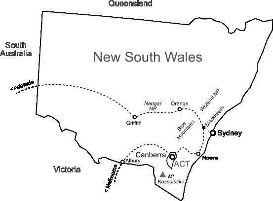 Carte NSW