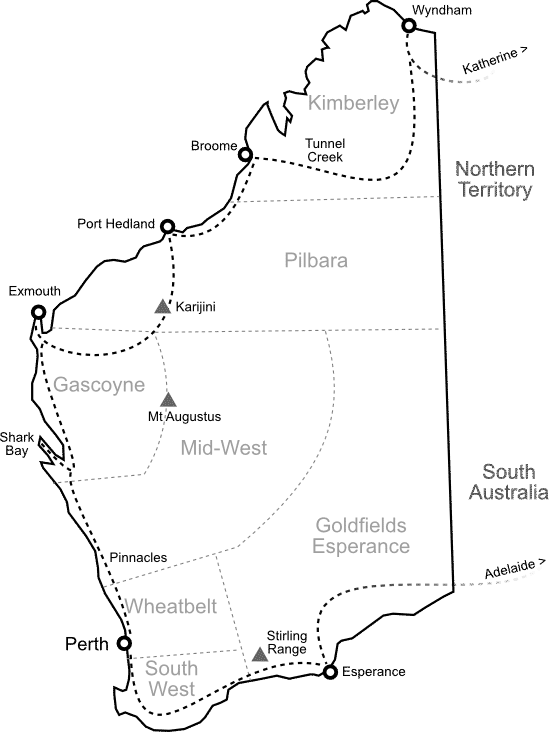 Carte Western Australia